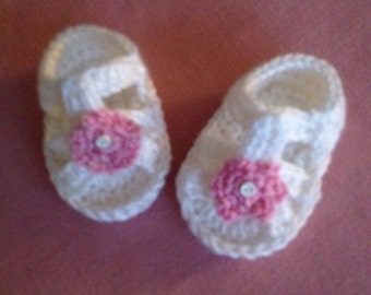 Infant Crocheted Sandals