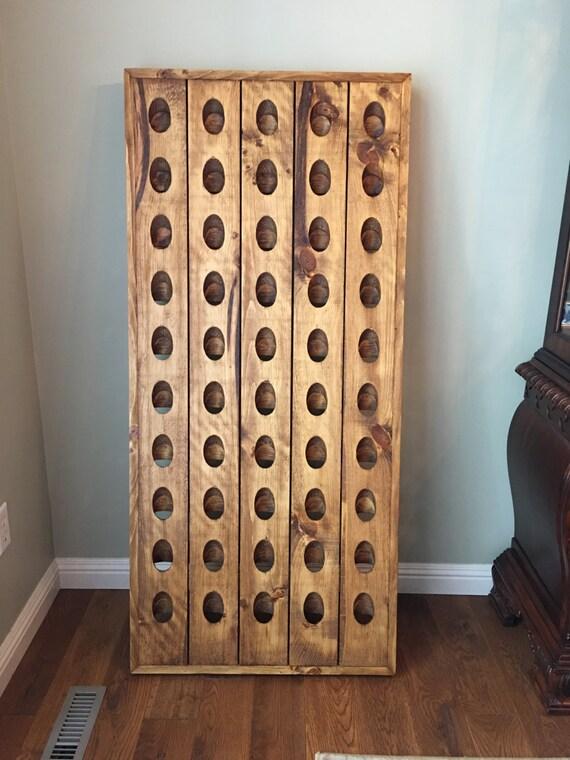 50 Bottle Wine Rack French Riddling Rack Wall Mounted Wine