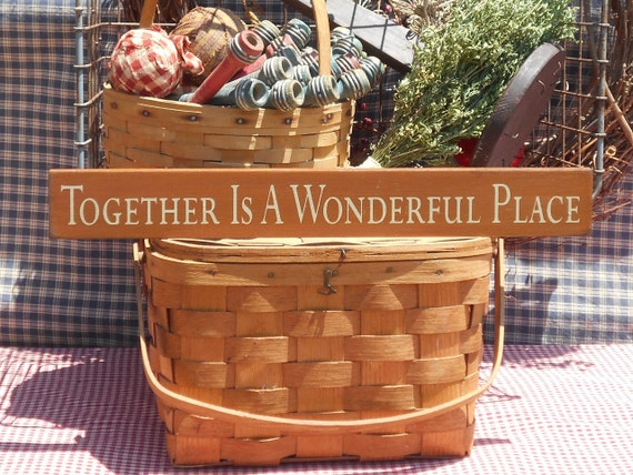 Together Is A Wonderful Place Wood Sign 2 5 X 20