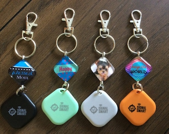 Signal Smart glass tile key chain key finder anti lost alarm personalized Mothers Day gift