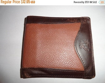 VALENTINES 50% OFF Vintage Leather wallet unique look 4.5 by 4 inch
