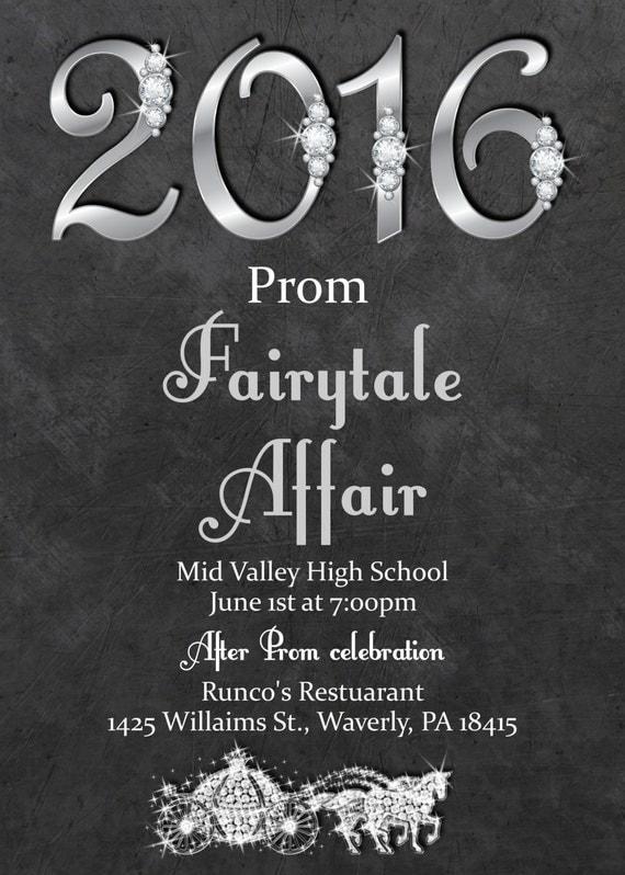 Fairytale Prom Invitation Prom Invitations Prom Invite