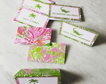 Lilly Pulitzer Food Tents Printable or Printed