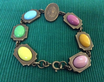 VINTAGE Multicolored  CAMEO BRACELET