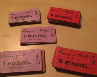 Very rare - A set of Bushel tokens - 1950's