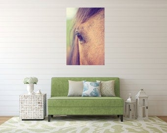 Horse  photography, horse canvas gallery wrap, horse print, large wall art, rustic home decor, rustic photography, horses, tan horse country