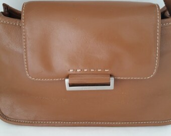 Vintage Cole Haan Small Tan Leather Shoulder Bag, Tan Leather Handbag by Cole Haan, Cole Haan Purse