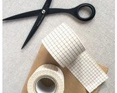 Nut Brown Grid Wide Washi Tape - Classiky