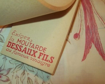 6 charming small notebooks old advertising, mustard DESSAUX son