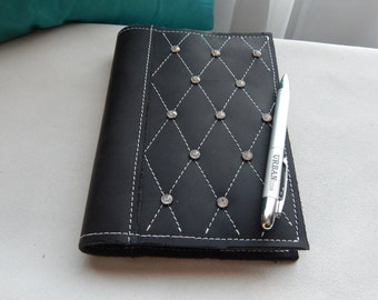 """Handmade refillable leather journal  - """"The Formal"""""""