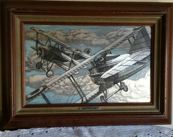 Dog Fight 1917 Framed Limited Edition Silver Screen by Franklin Mint