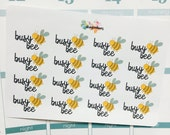 B89 Busy Bee/Lots To Do Planner Stickers for ECLP Erin Condren, Filofax, Day Designer