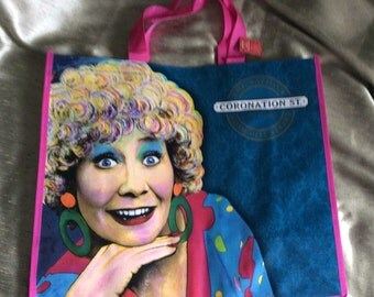 Collectible Very Large Coronation Street Vera Duckworth Shopping Bag / Tote