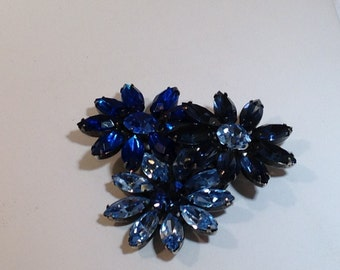 Large Blue Vogue Brooch