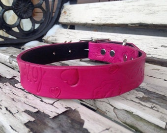 leather dog collar 1""