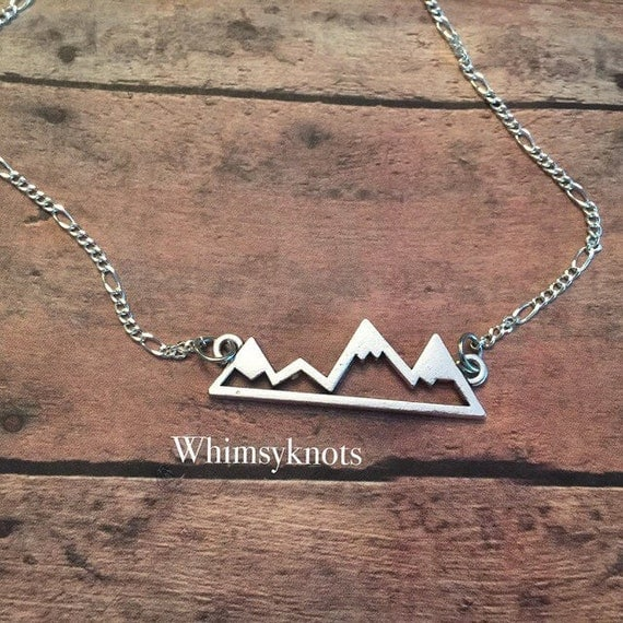 Mountains Necklace, geometric mountains, boho style , nature lover necklace