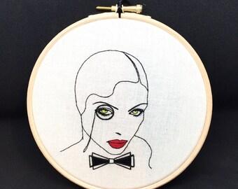GARÇONNE EMBROIDERY KIT - vintage - art deco - dandy - cabaret - weimar berlin - needlecraft - 1920s