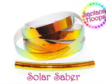 Solar Saber Color shifting Morph Taped Performance Hula Hoop Polypro or HDPE