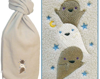 Funny Ghost Stack Warm Fleece Scarf Halloween Ghostly Monogram Custom Embroidered