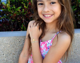 Friendship Bracelet, Starfish, Life is Always Better at the Beach, for Kids, Girls and Women, Adjustable, in16 Colors