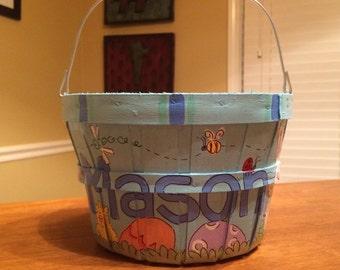 Easter Basket with handle-Basic Boy Easter Basket