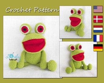 Amigurumi Pattern, Frog, Animal Crochet Pattern, CP-127