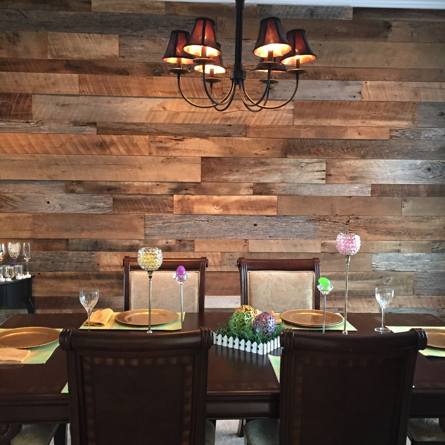 Wood Accent Wall: Reclaimed Wood Wall Accent Kits
