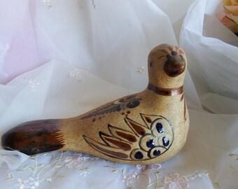 1960s Vintage Tonala Bird Figurine Signed KE (Ken Edwards)