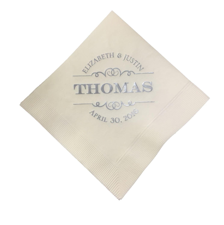 100 wedding napkins luncheon napkins beverage napkins cake napkins party napkins custom. Black Bedroom Furniture Sets. Home Design Ideas