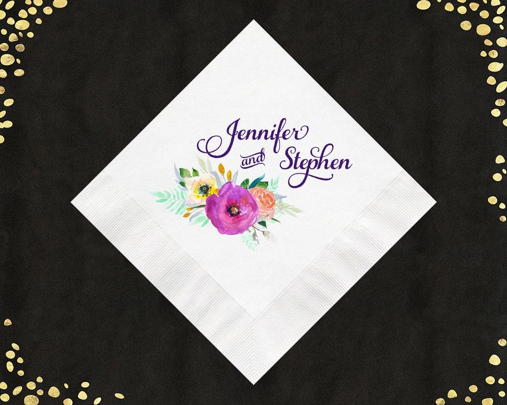 100 full color wedding napkins luncheon napkins beverage napkins cake napkins custom. Black Bedroom Furniture Sets. Home Design Ideas