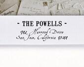 Self-Inking Address Stamp or Wood Address Stamp, Return Address Stamp, Envelope Stamp, Custom Stamp - Powells
