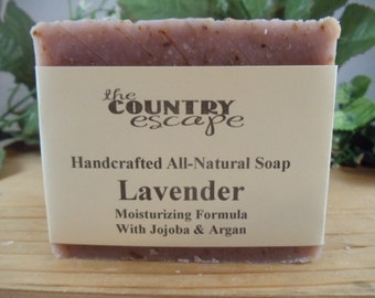 Lavender Bath and Body Soap -Handcrafted Soap -All Natural Vegan -Naturally Scented