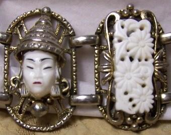 Vintage Selro Asian Princess, Bracelet, Rare Selini White Face