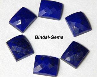 10 Pieces Lot Finest Quality Lapis Lazuli Octagon Checker Cut Gemstone For Jewelry