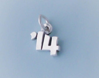 1 Sterling Silver '14 Year Charm for 2014