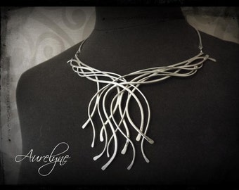 """Stainless magical mystical elf Arcane Necklace """"The Chariot"""" baroque Victorian Celtic"""
