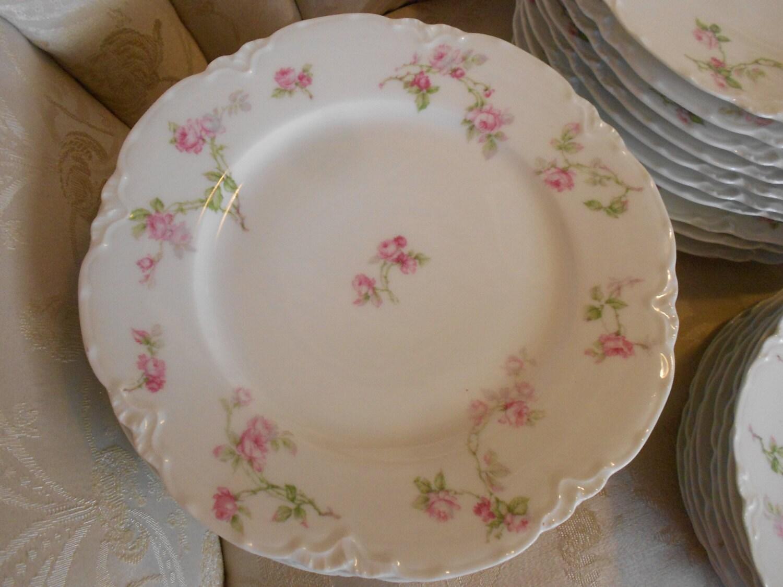 shabby chic china dishes haviland limoges france pink spray. Black Bedroom Furniture Sets. Home Design Ideas