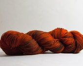 Skipper Sock in Toasted Pumpkin - 75/25 superwash 4-ply merino/nylon fingering weight yarn
