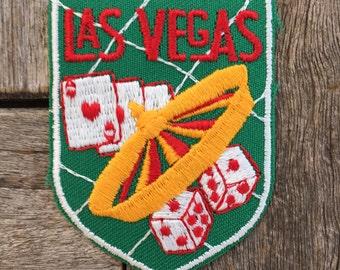 Las Vegas Nevada Vintage Souvenir Travel Patch by Voyager