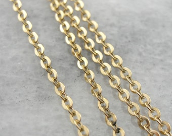 The Perfect Necklace: An Oval Link Gold Chain DJW3RL-D