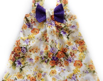Bow Dress.  Baby, Child dress.  Size 12 months to size girls 8