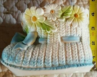 Vintage Relpo  CERAMIC Baby BOOTIE Shoe PLANTER~ Japan