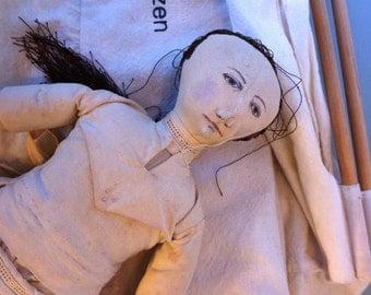Rare Esther Luttikhuizen, OOAK Soft Sculpture, Vintage, Doll, Handmade 1970's, Art Doll, Rag Doll, Doll Collector