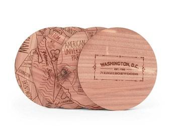 Washington, D.C. Map Coaster Set