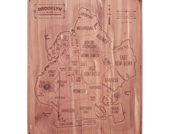 Brooklyn Wall Map