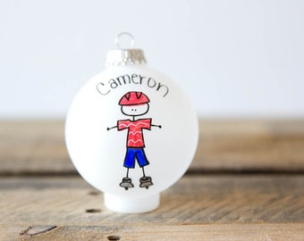 Roller Skater Christmas Ornament - Personalized for Free