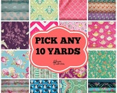 SALE 10 YARD Bundle - Choose your own fabrics and just include the list with your order!!!  Fabric bundle