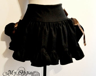 Skirt short Steampunk black