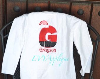 Custom Boys Santa Shirt Personalized, Boys Christmas Tee Santa, Personalized Santa Shirt for boys - Boys Santa Onesie