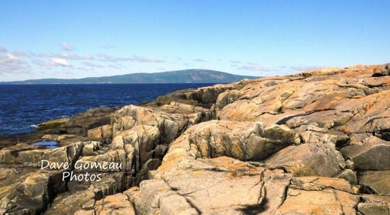 DIGITAL DOWNLOAD PHOTO, Ocean Seascape, Cadillac Mountain, Rocky Maine ...